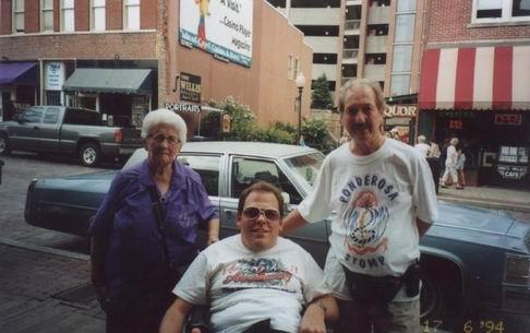 James Burton, his Mom and me